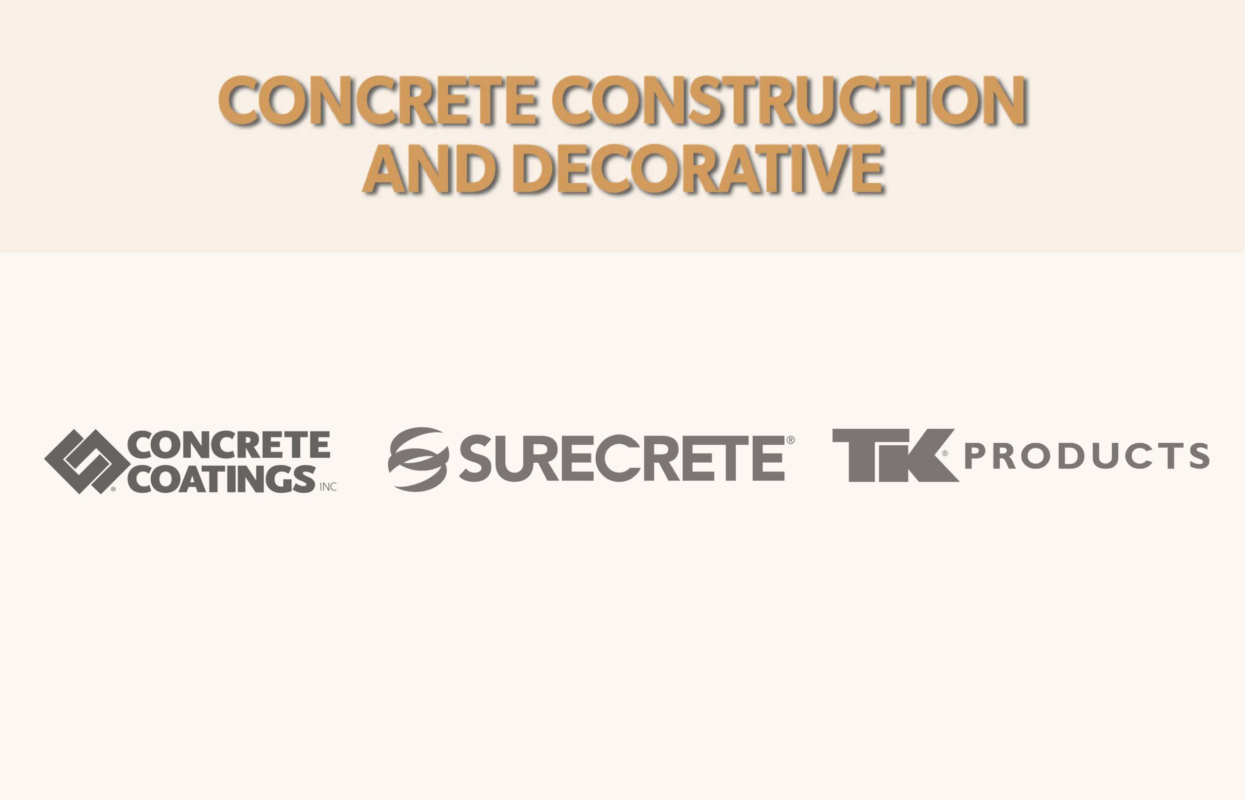 Fenix Group Construction Concrete Decorative Division Concrete Coatings, Surecrete, TK Products
